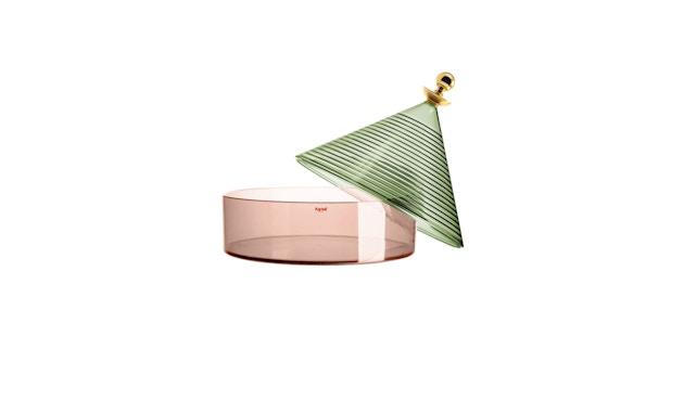 Kartell - Trullo Tischbehälter - Verde Salvia/rosa - 2