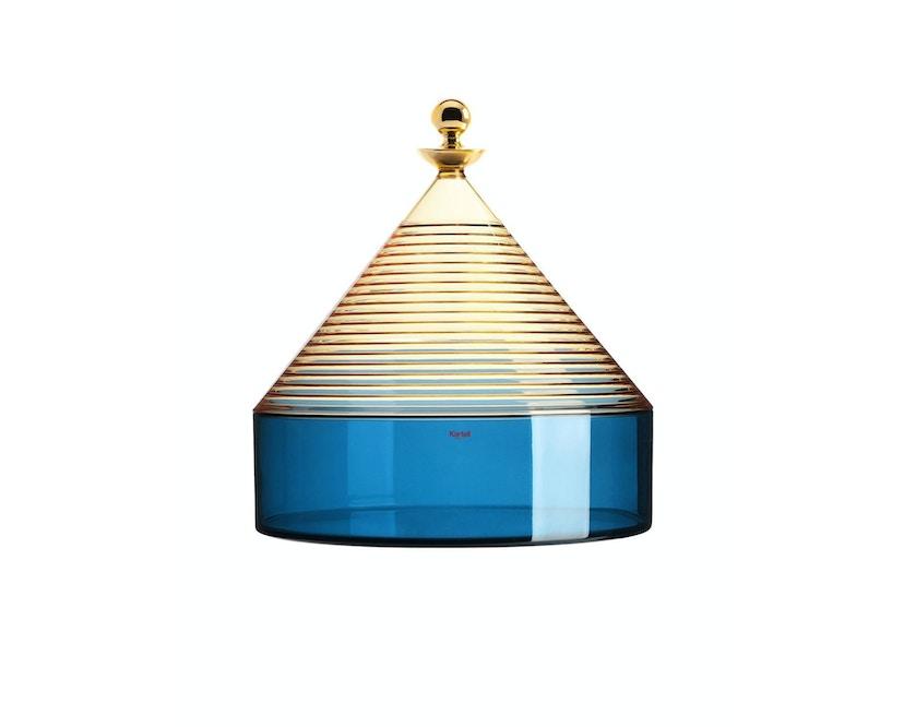 Kartell - Trullo Tischbehälter - Giallo/blu - 1
