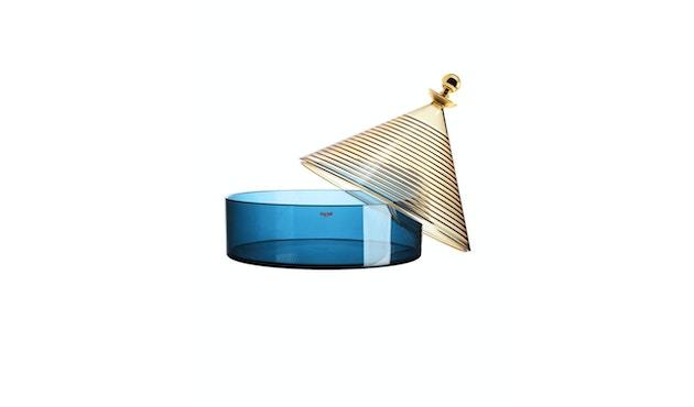 Kartell - Trullo Tischbehälter - Giallo/blu - 2
