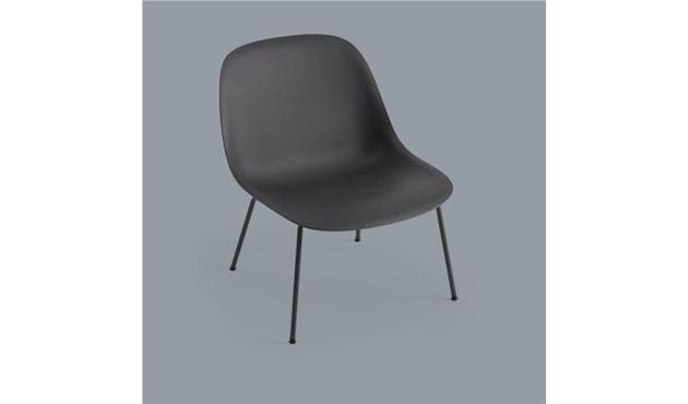 Muuto - Fiber Lounge Stuhl - Rohrgestell Shell Base - schwarz - 2