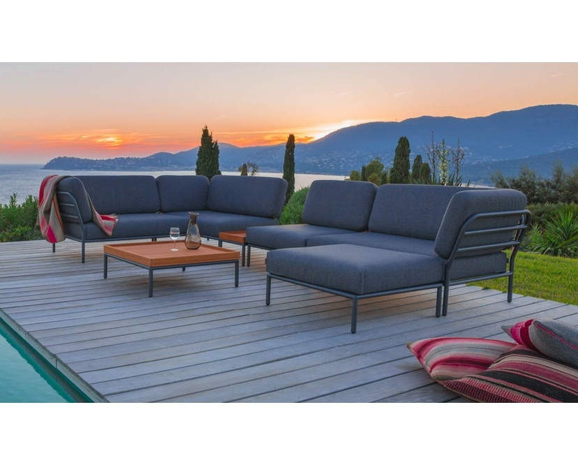 Houe - Level Lounge Sofa - grau - Armlehne rechts - 3