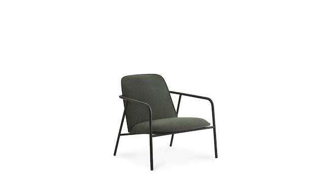 Normann Copenhagen - Pad Loungestuhl - Low - schwarzer Stahl/ schwarz - Level - 1