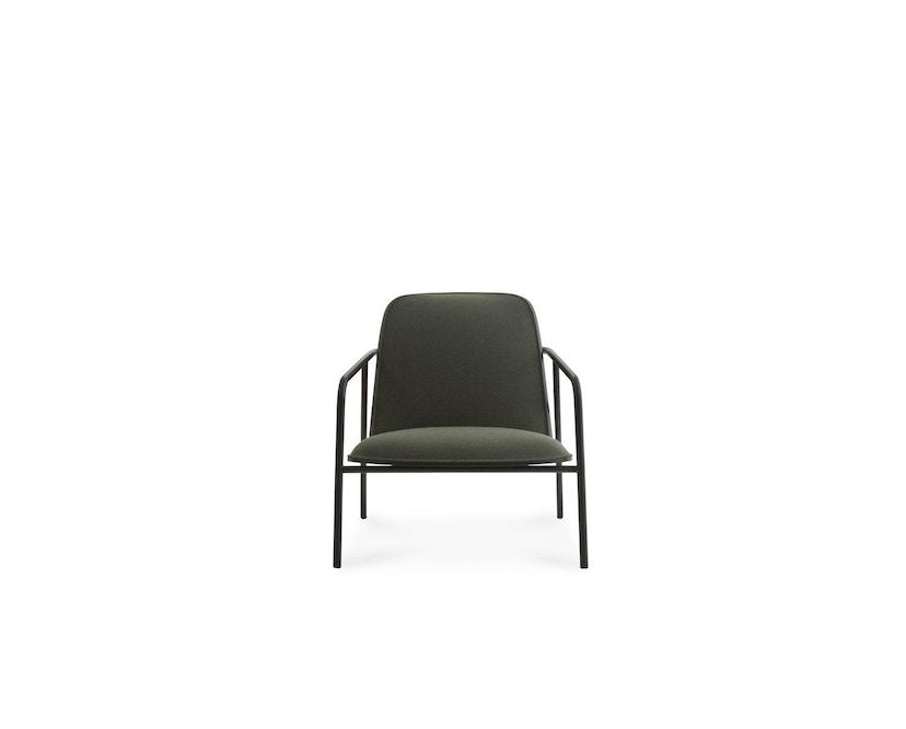 Normann Copenhagen - Pad Loungestuhl - Low - schwarzer Stahl/ schwarz - Level - 2