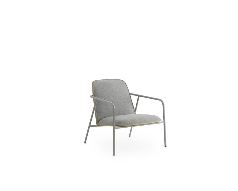Normann Copenhagen - Pad Loungestuhl - Low - grauer Stahl/ Eiche - Archway - 1