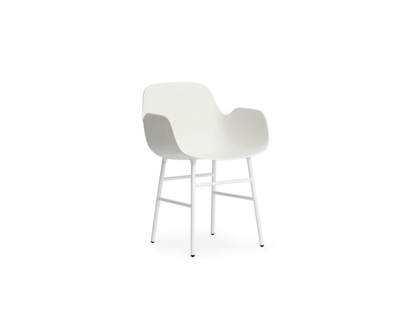 Normann Copenhagen - Form fauteuil met metalen frame - wit - 1