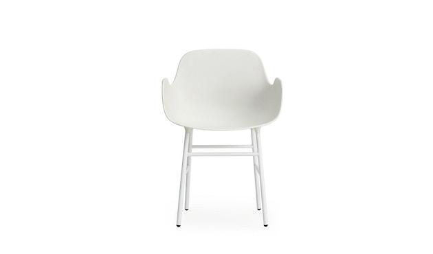 Normann Copenhagen - Form fauteuil met metalen frame - wit - 2