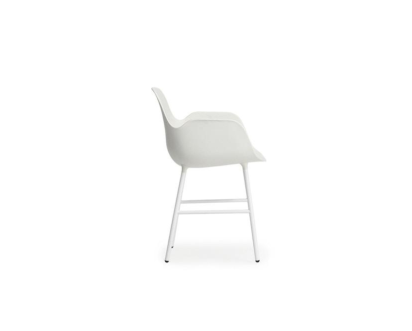 Normann Copenhagen - Form fauteuil met metalen frame - wit - 3