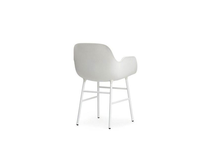 Normann Copenhagen - Form fauteuil met metalen frame - wit - 4