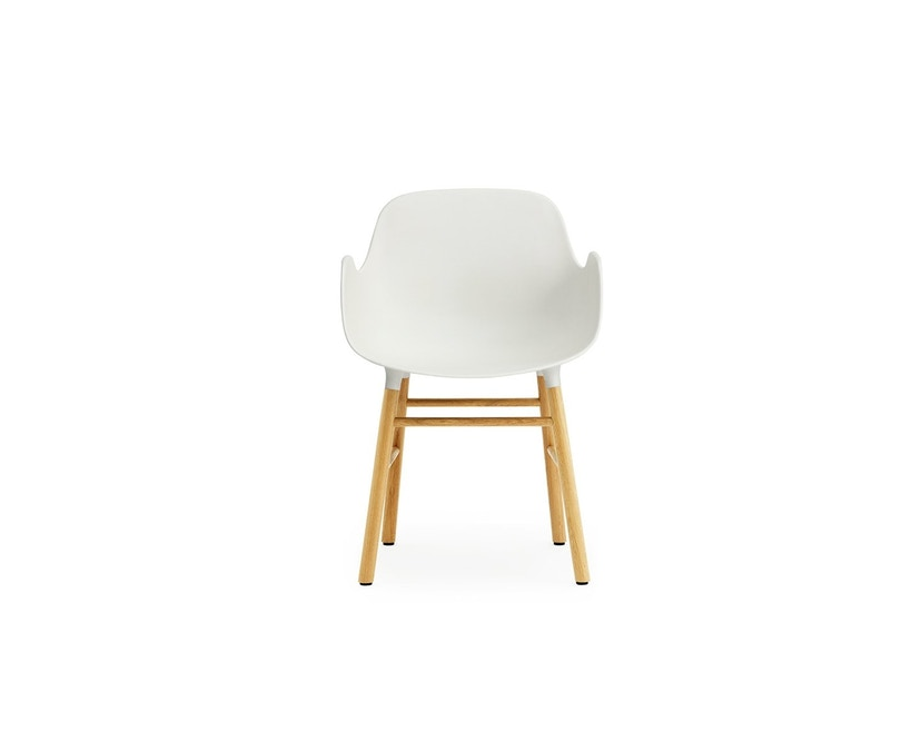 Normann Copenhagen - Form Armlehnstuhl mit Holzgestell - weiß - Eiche - 2