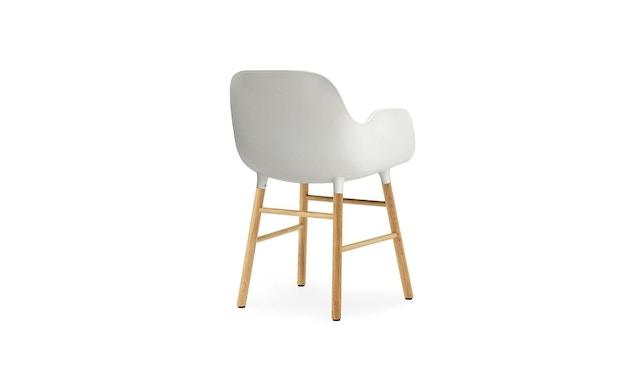 Normann Copenhagen - Form Armlehnstuhl mit Holzgestell - weiß - Eiche - 4