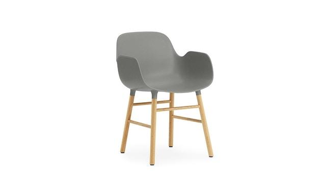 Normann Copenhagen - Form Armlehnstuhl mit Holzgestell - grau - Eiche - 1