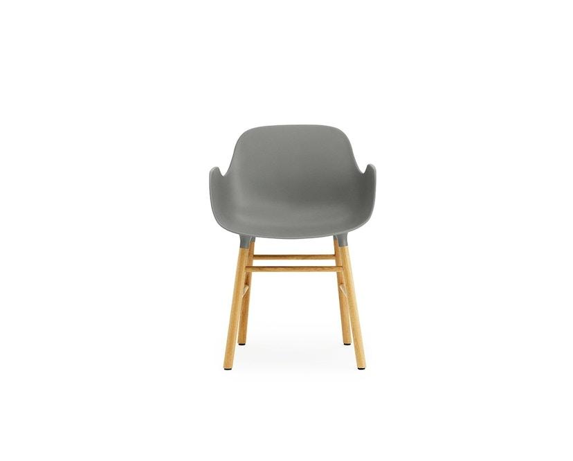 Normann Copenhagen - Form Armlehnstuhl mit Holzgestell - grau - Eiche - 2