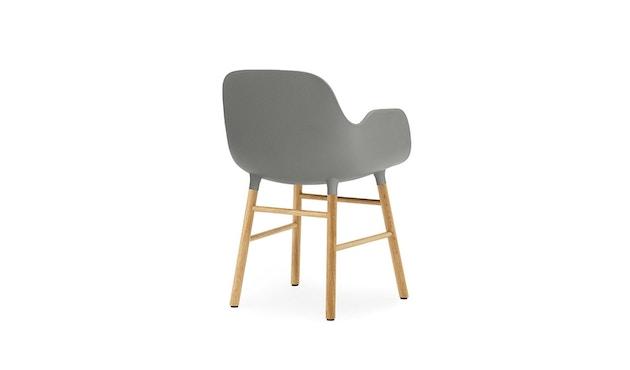 Normann Copenhagen - Form Armlehnstuhl mit Holzgestell - grau - Eiche - 3