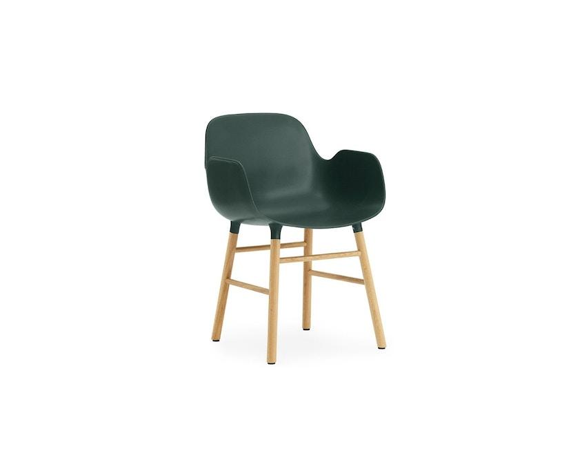 Normann Copenhagen - Form fauteuil met houten frame - groen - Eiken - 1