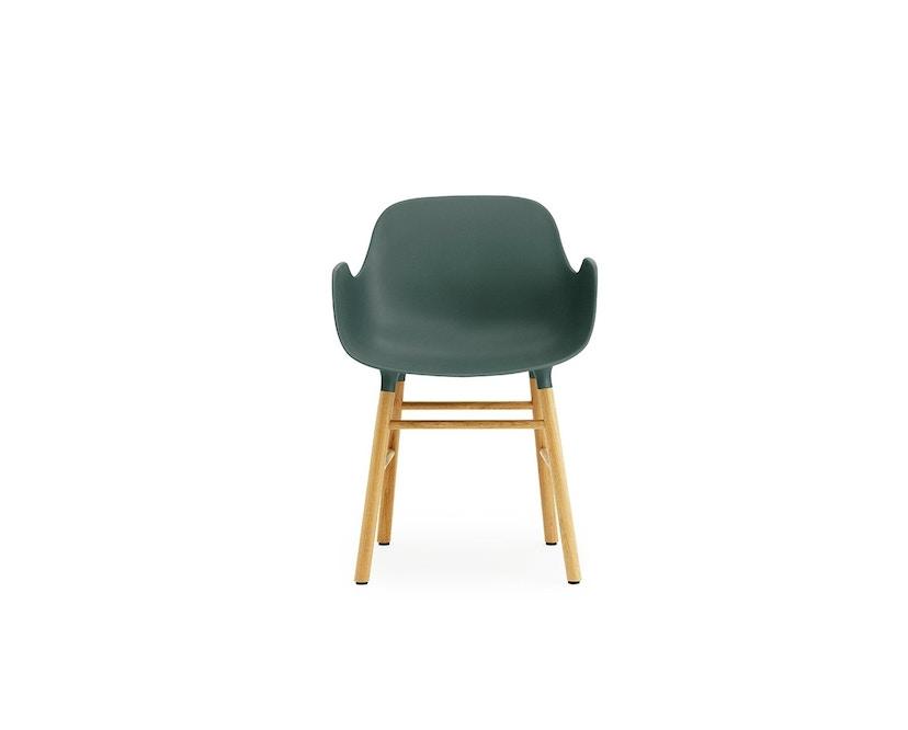 Normann Copenhagen - Form fauteuil met houten frame - groen - Eiken - 2