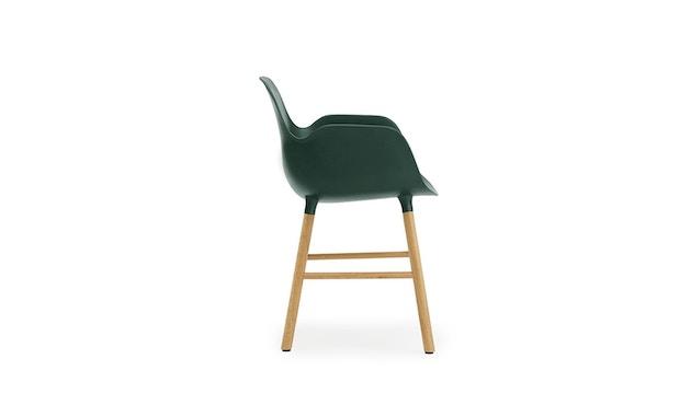Normann Copenhagen - Form fauteuil met houten frame - groen - Eiken - 3