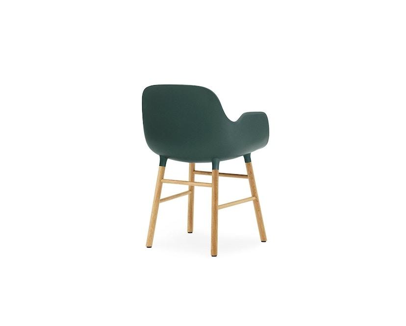Normann Copenhagen - Form fauteuil met houten frame - groen - Eiken - 4