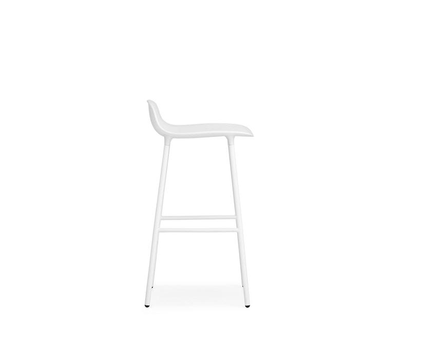 Normann Copenhagen - Form barkruk met metalen frame - 65 cm - wit - 7