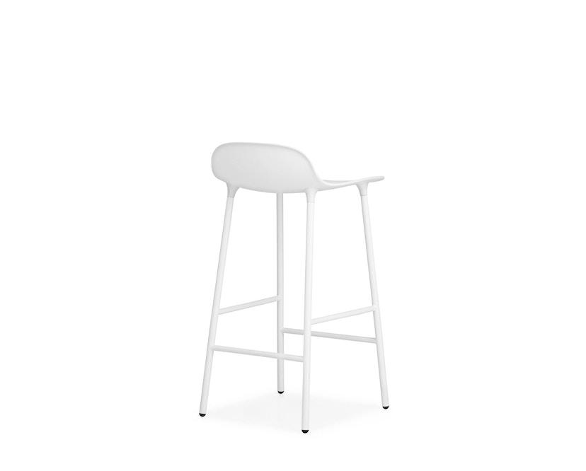 Normann Copenhagen - Form barkruk met metalen frame - 65 cm - wit - 8