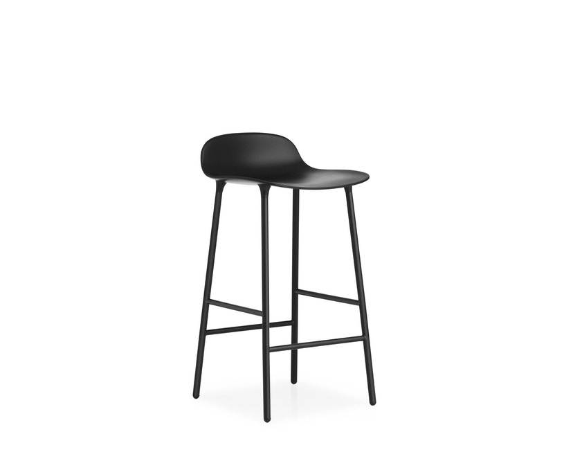 Normann Copenhagen - Form barkruk met metalen frame - 65 cm - zwart - 5