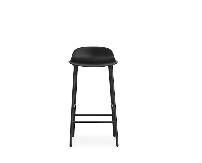 Normann Copenhagen - Form barkruk met metalen frame - 65 cm - zwart - 6