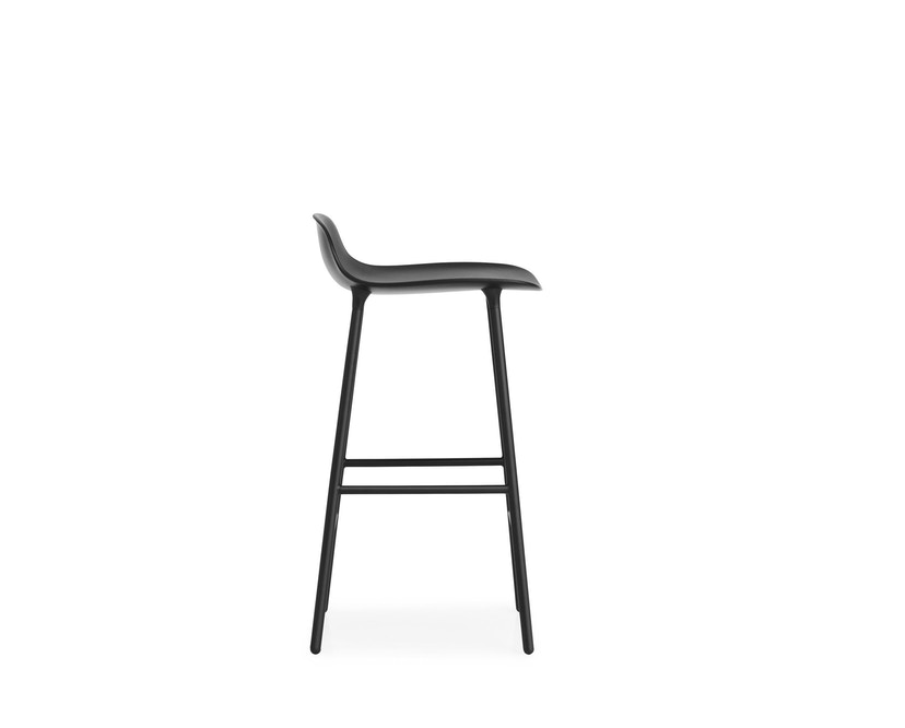 Normann Copenhagen - Form barkruk met metalen frame - 65 cm - zwart - 7