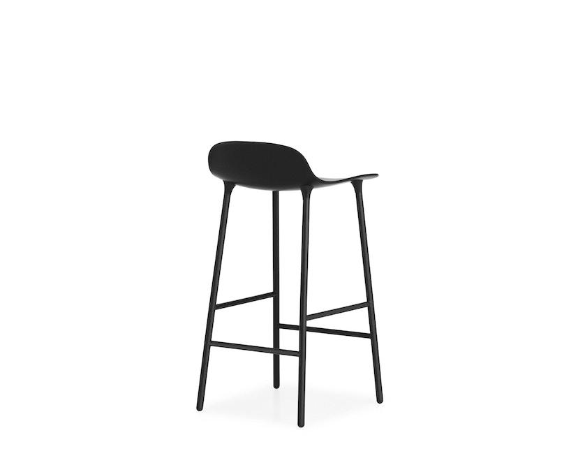 Normann Copenhagen - Form barkruk met metalen frame - 65 cm - zwart - 8