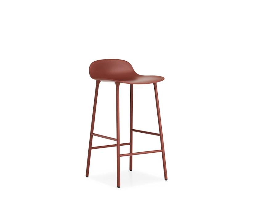 Normann Copenhagen - Chaise de bar avec structure en métal - rouge - 65 cm - 5