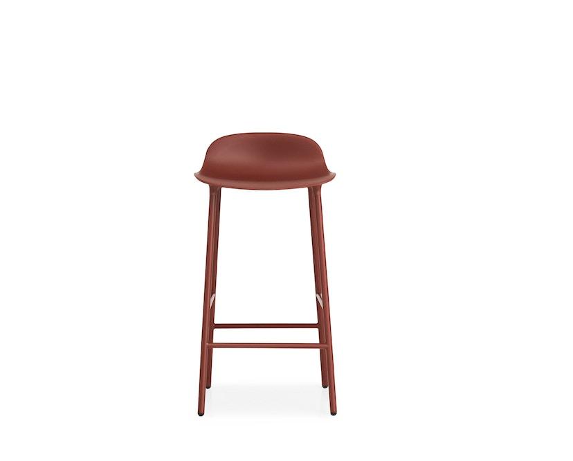 Normann Copenhagen - Chaise de bar avec structure en métal - rouge - 65 cm - 6