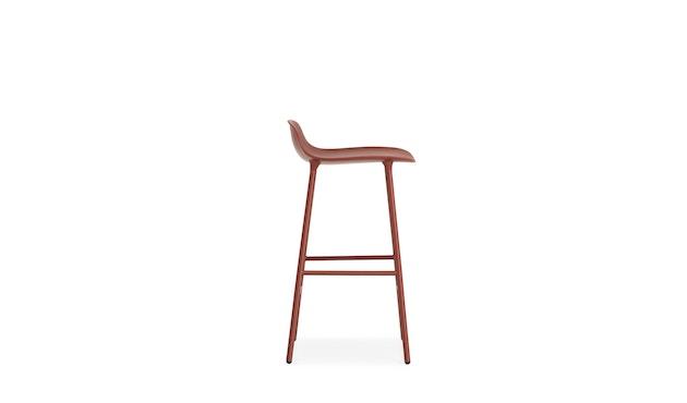 Normann Copenhagen - Chaise de bar avec structure en métal - rouge - 65 cm - 7