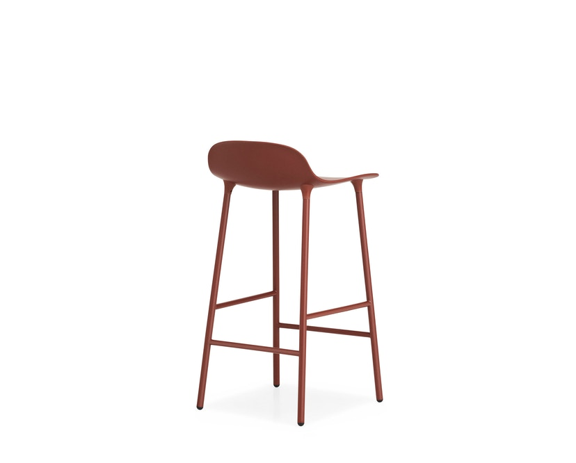 Normann Copenhagen - Chaise de bar avec structure en métal - rouge - 65 cm - 8