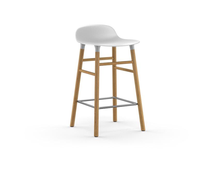 Normann Copenhagen - Form barkruk met houten frame en metalen steun - Eiken - wit - 65 cm - 1