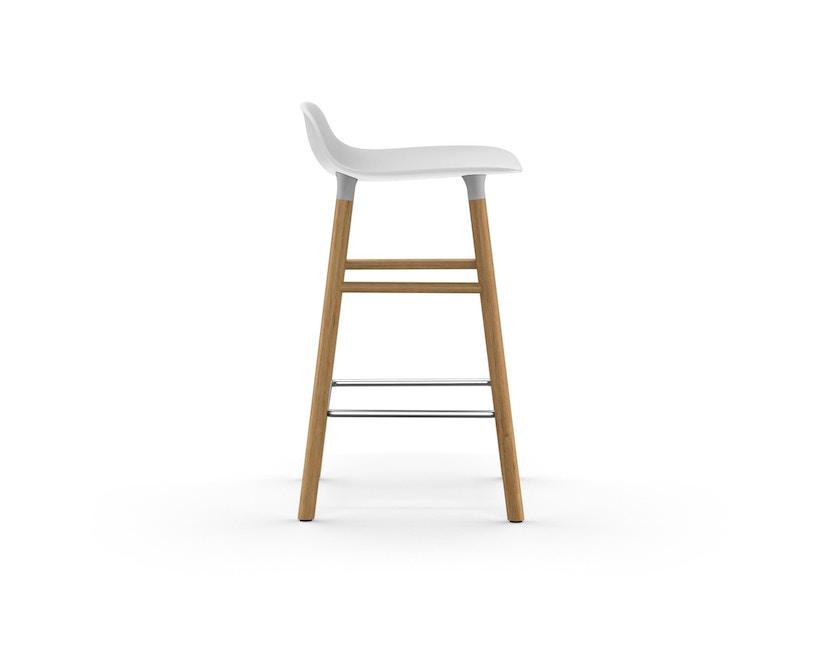 Normann Copenhagen - Form barkruk met houten frame en metalen steun - Eiken - wit - 65 cm - 3
