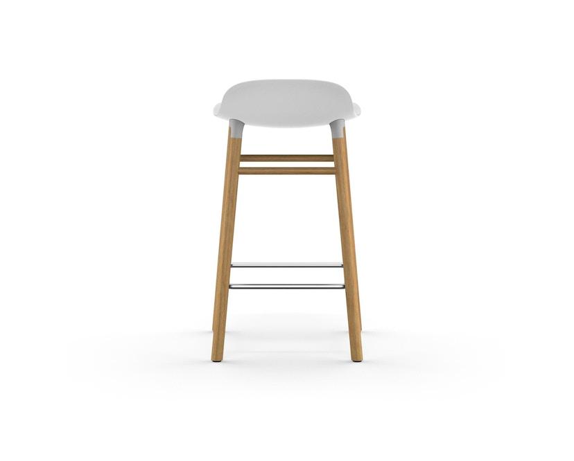 Normann Copenhagen - Form barkruk met houten frame en metalen steun - Eiken - wit - 65 cm - 4