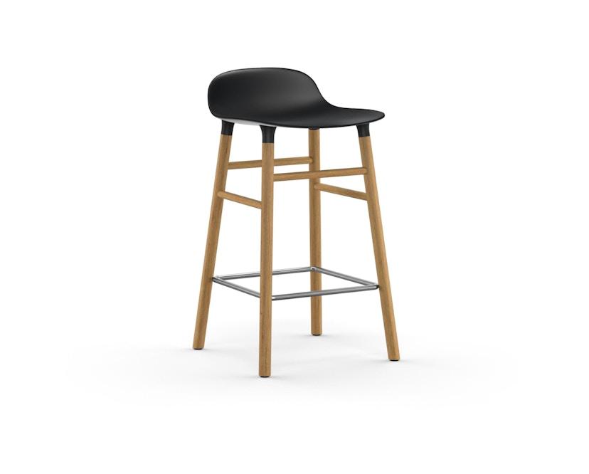 Normann Copenhagen - Form Barstuhl Holzgestell/Metallverstrebung - 65 cm - schwarz - Eiche - 1