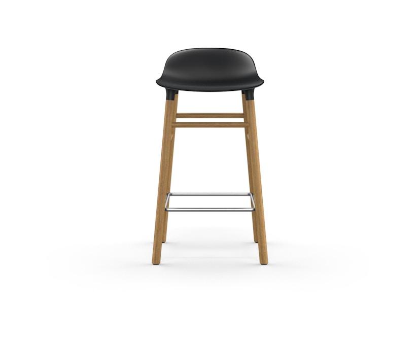 Normann Copenhagen - Form Barstuhl Holzgestell/Metallverstrebung - 65 cm - schwarz - Eiche - 2