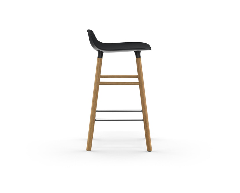 Normann Copenhagen - Form Barstuhl Holzgestell/Metallverstrebung - 65 cm - schwarz - Eiche - 3