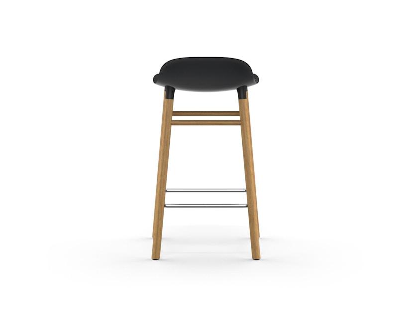 Normann Copenhagen - Form Barstuhl Holzgestell/Metallverstrebung - 65 cm - schwarz - Eiche - 4