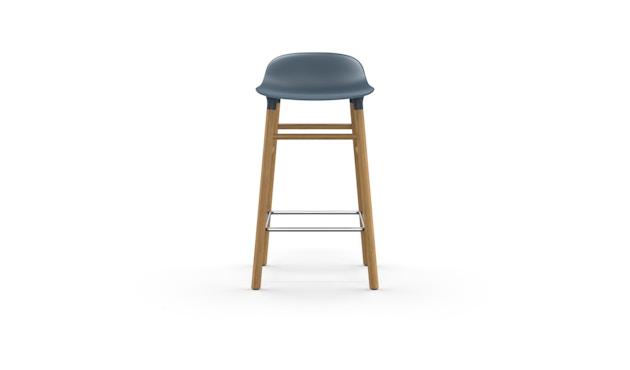 Normann Copenhagen - Form Barstuhl Holzgestell/Metallverstrebung - 65 cm - blau - Eiche - 2