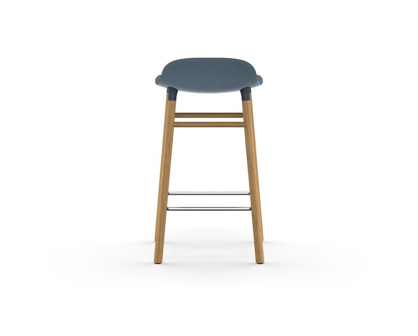 Normann Copenhagen - Form Barstuhl Holzgestell/Metallverstrebung - 65 cm - blau - Eiche - 4