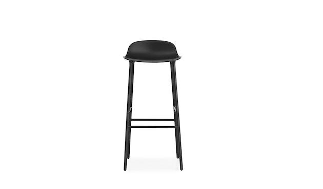 Normann Copenhagen - Form barkruk met metalen frame - 75 cm - zwart - 6