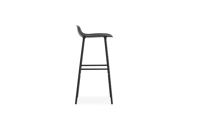 Normann Copenhagen - Form barkruk met metalen frame - 75 cm - zwart - 7