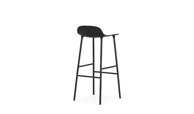 Normann Copenhagen - Form barkruk met metalen frame - 75 cm - zwart - 8
