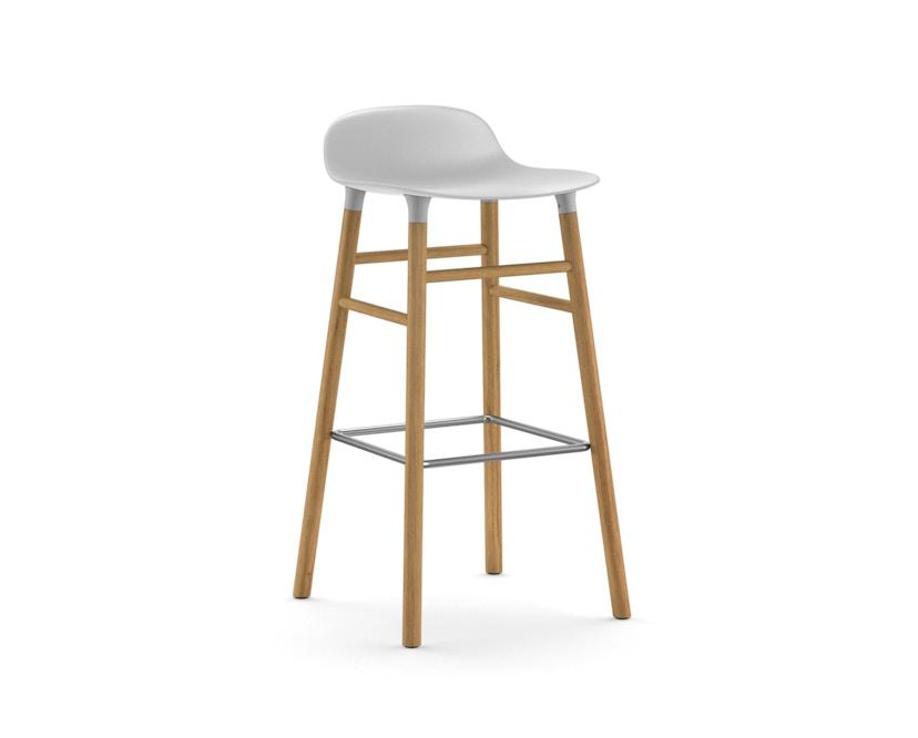 Normann Copenhagen - Form Barstuhl Holzgestell/Metallverstrebung - 75 cm - weiß - Eiche - 1