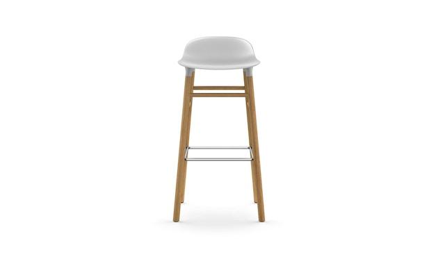 Normann Copenhagen - Form Barstuhl Holzgestell/Metallverstrebung - 75 cm - weiß - Eiche - 2