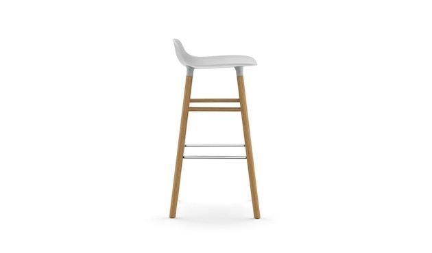 Normann Copenhagen - Form Barstuhl Holzgestell/Metallverstrebung - 75 cm - weiß - Eiche - 3