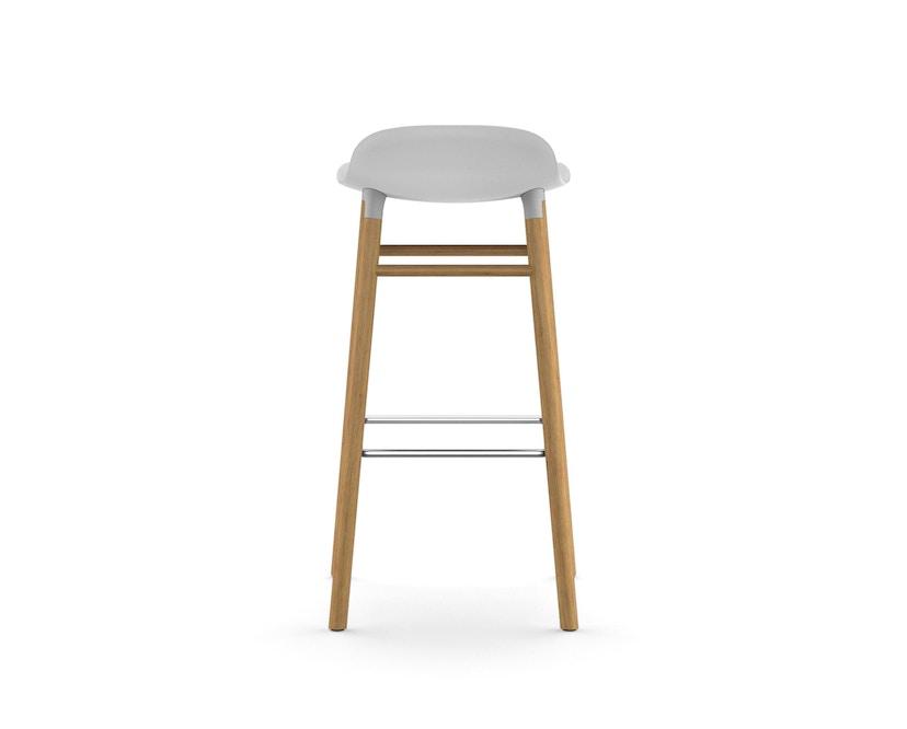 Normann Copenhagen - Form Barstuhl Holzgestell/Metallverstrebung - 75 cm - weiß - Eiche - 4