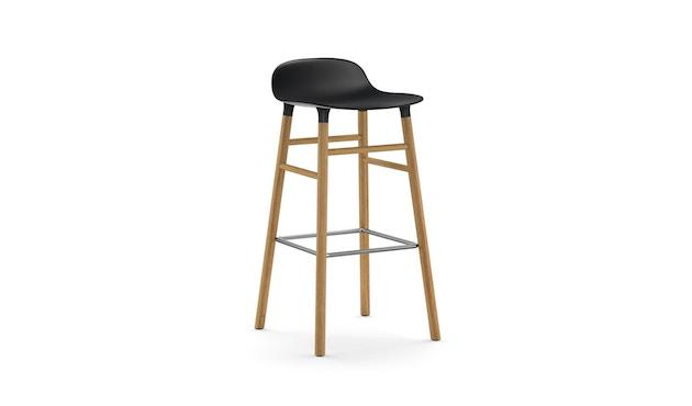 Normann Copenhagen - Form Barstuhl Holzgestell/Metallverstrebung - 75 cm - schwarz - Eiche - 1
