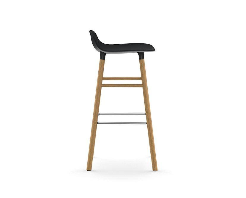 Normann Copenhagen - Form Barstuhl Holzgestell/Metallverstrebung - 75 cm - schwarz - Eiche - 3