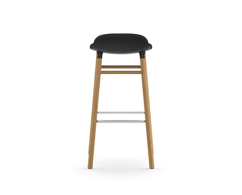 Normann Copenhagen - Form Barstuhl Holzgestell/Metallverstrebung - 75 cm - schwarz - Eiche - 4